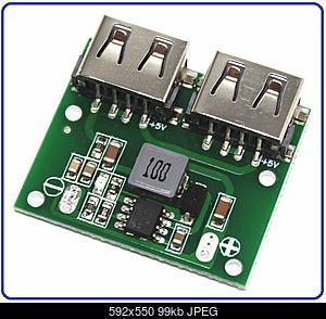 Нажмите на изображение для увеличения Название: Step-down-DC-DC-Converter-6V-26V-5.2V-2xUSB-800x800.jpg Просмотров: 11 Размер:99.4 Кб ID:51988